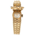 Estate Jewelry:Watches, Lady's Diamond, Gold Covered Dial Watch . ...
