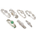 Estate Jewelry:Bracelets, Diamond, Multi-Stone, White Gold Bracelets . ... (Total: 7 Items)