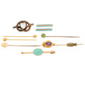 Estate Jewelry:Brooches - Pins, Multi-Stone, Seed Pearl, Enamel, Gold Brooches . ... (Total: 9Items)