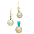 Estate Jewelry:Lots, Cultured Pearl, Multi-Stone, Gold Jewelry . ... (Total: 2 Items)
