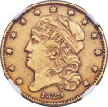 Early Half Eagles, 1829 $5 Small Diameter, Small Date, BD-2, R.7 -- Improperly Cleaned -- NGC Details. AU....