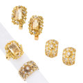 Estate Jewelry:Suites, Diamond, Citrine, Gold Suites. ... (Total: 2 Items)