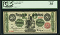 Large Size:Legal Tender Notes, Fr. 126b $20 1863 Legal Tender PCGS About New 50.. ...