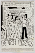 "Original Comic Art:Complete Story, Stan Goldberg (attributed) Life With Archie #184 Complete11-Page Story, ""Double Vision,"" Or..."