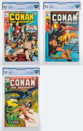 Bronze Age (1970-1979):Adventure, Conan the Barbarian #2, 5, and 9 CBCS-Graded Group (Marvel, 1970-71).... (Total: 3 Comic Books)