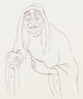 Animation Art:Production Drawing, Snow White and the Seven Dwarfs Old Hag Animation Drawing(Walt Disney, 1937)....