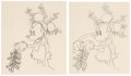Animation Art:Production Drawing, Mickey's Mellerdrammer Mickey Mouse Animation Drawing Sequence of 2 (Walt Disney, 1933). ... (Total: 2 )