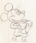 Animation Art:Production Drawing, Society Dog Show Mickey Mouse and Pluto Animation Drawing(Walt Disney, 1939). ... (Total: 2 )