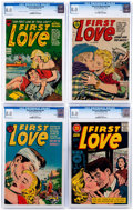 Golden Age (1938-1955):Romance, First Love Illustrated Group of 4 (Harvey, 1953-57) CGC VF 8.0....(Total: 4 Comic Books)