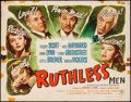 "Movie Posters:Film Noir, Ruthless (Eagle Lion, 1948). Half Sheet (22"" X 28""). Film Noir.. ..."