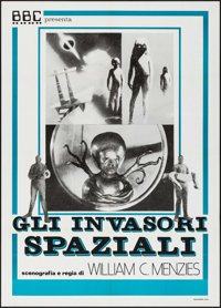 "Invaders from Mars & Other Lot (BBC, R-1980S). Italian 2 - Foglis (2) (39"" X 55""). Science Fiction. ... (T..."