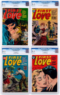 Golden Age (1938-1955):Romance, First Love Illustrated #43-45 and 48 CGC-Graded File Copies Group(Harvey, 1954-55) CGC VF+ 8.5.... (Total: 4 Comic Books)