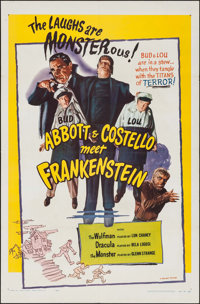 "Abbott and Costello Meet Frankenstein (Realart, R-1956). One Sheet (27"" X 41""). Horror"