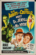 """Movie Posters:Comedy, Abbott and Costello Meet Dr. Jekyll and Mr. Hyde (UniversalInternational, 1953). One Sheet (27"""" X 41""""). Comedy.. ..."""