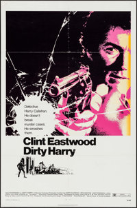 "Dirty Harry (Warner Brothers, 1971). One Sheet (27"" X 41""). Crime"