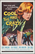 """Movie Posters:Bad Girl, The Cool and the Crazy (American International, 1958). Flat FoldedOne Sheet (27"""" X 41""""). Bad Girl.. ..."""