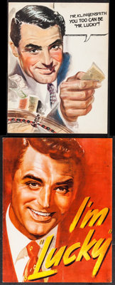 """Mr. Lucky (RKO, 1943). Exhibitor Programs (2) (8 Pages, 8.5"""" X 11""""), (4 Pages, 9.25"""" X 12"""") & Le..."""