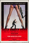 "Movie Posters:James Bond, For Your Eyes Only (United Artists, 1981). Advance One Sheet (27"" X41""). James Bond.. ..."