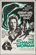 "Movie Posters:Horror, The Snake Woman (United Artists, 1961). One Sheet (27"" X 41"").Horror.. ..."