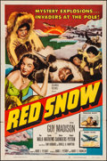 "Movie Posters:Drama, Red Snow (Columbia, 1952). One Sheet (27"" X 41""). Drama.. ..."