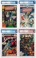 Bronze Age (1970-1979):Miscellaneous, DC Bronze and Modern Age Comics CGC-Graded Group of 4 (DC,1972-97).... (Total: 4 Comic Books)