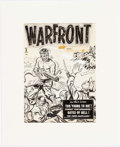 Original Comic Art:Covers, Warren Kremer (attributed) Warfront #3 Cover Original Art(Harvey Comics, 1952)....