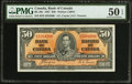 Canadian Currency: , BC-26c $50 1937.. ...
