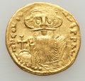 Ancients:Byzantine, Ancients: Constans II (AD 641-668). AV solidus (4.35 gm). XF,graffito....