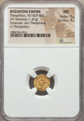 Ancients:Byzantine, Ancients: Theophilus (AD 829-842). AV semissis (1.81 gm). NGC MS5/5 - 4/5....