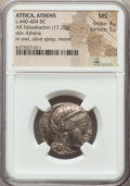 Ancients:Greek, Ancients: ATTICA. Athens. Ca. 440-404 BC. AR tetradrachm (17.20gm). NGC MS 4/5 - 5/5....