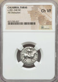 Ancients:Greek, Ancients: CALABRIA. Tarentum. Ca. 272-240 BC. AR stater ordidrachm. NGC Choice VF....