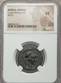 Ancients:Roman Provincial , Ancients: ATTICA. Athens. Pseudo-autonomous issues. Ca. AD 120-140.AE25. NGC VF....