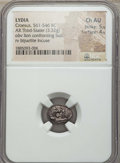 Ancients:Greek, Ancients: LYDIAN KINGDOM. Croesus and later (ca. 561-546 BC). ARthird stater (3.32 gm). NGC Choice AU 5/5 - 4/5....