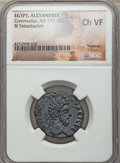 Ancients:Roman Provincial , Ancients: EGYPT. Alexandria. Commodus (AD 177-192). BI tetradrachm.NGC Choice VF.  ...