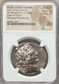Ancients:Celtic, Ancients: DANUBIAN CELTS. Imitating Thasos. After 146 BC. ARtetradrachm (16.81 gm). NGC Choice AU  5/5 - 3/5. ...