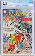 Silver Age (1956-1969):Superhero, The Brave and the Bold #54 Kid Flash, Aqualad, and Robin (DC, 1964)CGC NM- 9.2 White pages....
