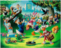 Memorabilia:Disney, Carl Barks Holiday in Duckburg Signed Limited Edition Lithograph Print #174/345 (Another Rainbow, 1989)....