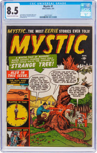 Mystic #1 (Atlas, 1951) CGC VF+ 8.5 Cream to off-white pages