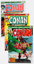 Bronze Age (1970-1979):Adventure, Conan the Barbarian Group of 43 (Marvel, 1973-78) Condition: Average NM-.... (Total: 43 Comic Books)