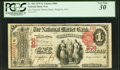National Bank Notes:Massachusetts, Brighton, MA - $1 1875 Fr. 385 The National Market Bank Ch. # 806. ...