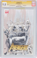 Modern Age (1980-Present):Superhero, The Avengers #1 Sketch Cover - Signature Series (Marvel, 2010) CGCNM/MT 9.8 White pages....