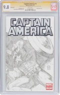 Modern Age (1980-Present):Superhero, Captain America #1 Sketch Cover - Signature Series (Marvel, 2011)CGC NM/MT 9.8 White pages....