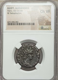 Ancients:Roman Provincial , Ancients: EGYPT. Alexandria. Nero (AD 54-68). BI tetradrachm. NGCChoice VF. ...