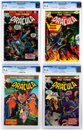 Bronze Age (1970-1979):Horror, Tomb of Dracula CGC-Graded Group of 4 (Marvel, 1973-74).... (Total:4 Comic Books)