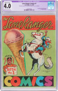 Golden Age (1938-1955):Western, Lone Ranger Comics #1 (Lone Ranger Inc., 1939) CGC Apparent VG 4.0Moderate (B-3) Cream to off-white pages....