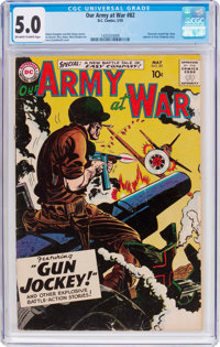 Our Army at War #82 (DC, 1959) CGC VG/FN 5.0 Off-white to white pages
