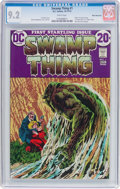 Bronze Age (1970-1979):Horror, Swamp Thing #1 White Mountain Pedigree (DC, 1972) CGC NM- 9.2 Whitepages....