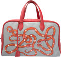 Luxury Accessories:Bags, Hermes Customized 45cm Rouge Garance Clemence Leather & Ec...