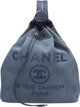 "Chanel Blue Canvas & Sequin Backpack Bag Excellent to Pristine Condition 12.5"" Width x 15"" Height x 5&..."