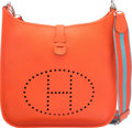 Luxury Accessories:Bags, Hermes Orange Poppy Clemence Leather Evelyne III GM Bag wi...